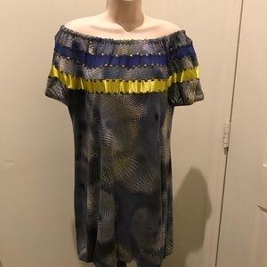 Morena Rosa designer off the shoulder dress